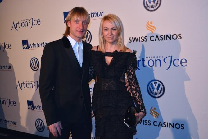 Evgeni Plushenko with his wife Yana Rudkovskaya