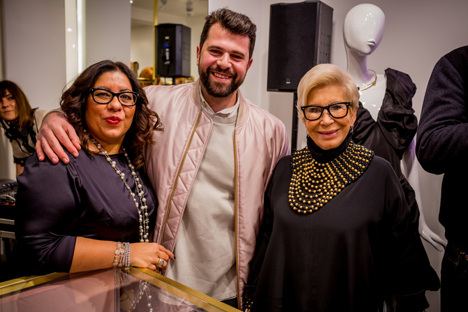 Andreas Menelaou, with founders Anna Fendi & Mrs Lascaris