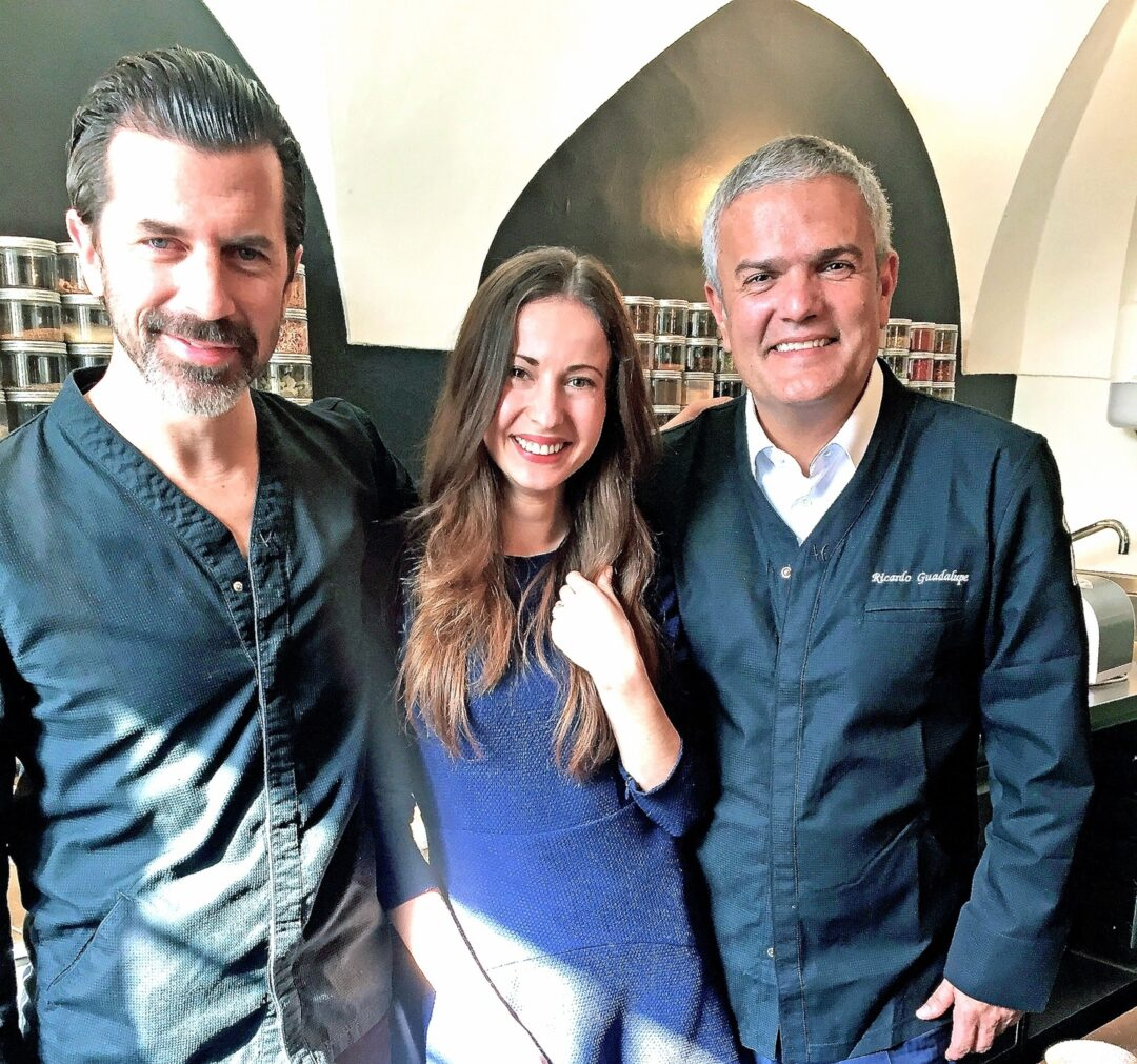 With Andreas Caminada and CEO of Hublot Ricardo Guadalupe