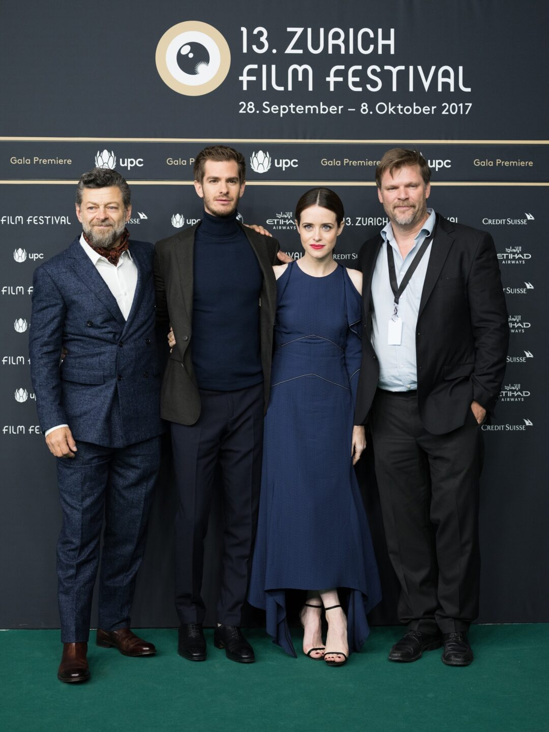 Andrew Garfield, Claire Foy and Andy Serkis
